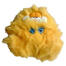 Rare 1981 Garfield The Cat Fluffy Kitty, Bowtie Guy #89-1290 Jim Davis Plush Stuffed Animal By Dankin with Original Tag