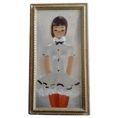 Igor Pantuhoff (1911 - 1972) Slender Young Ballerina Girl Oil Painting on Canvas Signed by Listed Artist