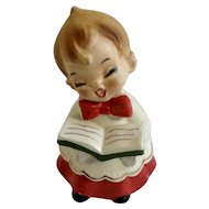 Adorable Singing Choir Boy Josef Originals Ceramic Christmas Figurine Made in Japan
