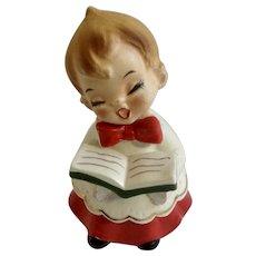 Adorable Singing Choir Boy Josef Originals Ceramic Christmas Figurine Made in Japan