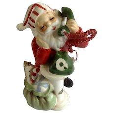 Vintage Josef Originals Santa Claus On The Phone Christmas Figurine Japan