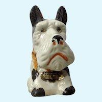 1930's Ceramic Scotty Dog 'Piggy' Bank Souvenir Portland, ME Figurine