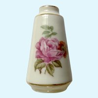 Dollhouse Limoges France Miniature Vase White Porcelain Floral Transferware