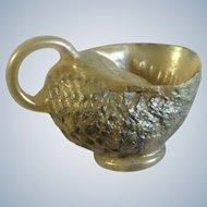 Vintage Miniature Glass Encased Seashell Dollhouse Pitcher Vase