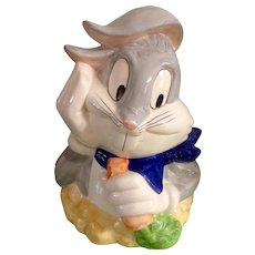 Cookie Jar Bugs Bunny Warner Brothers Looney Tunes Holding A Carrot by Gibson