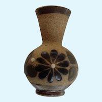 Dollhouse Miniature Stoneware Vase Pottery Made in Mexico