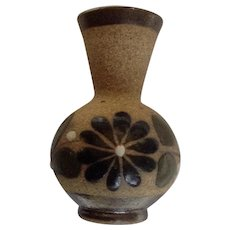 Miniature Stoneware Vase For Dollhouse Diorama Mexican Pottery Made in Mexico