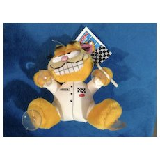 1981 Garfield The Cat Speed Demon Racing #32-2940 Jim Davis Plush Stuffed Animal By Dankin with Original Tags