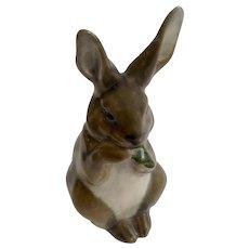 Vintage Royal Copenhagen Denmark Porcelain Brown Bunny Rabbit Figurine #1019