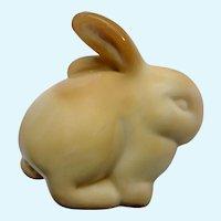 Fenton Chocolate Caramel Brown Slag Bunny Rabbit Glass Figurine