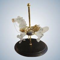 Crystal Glass Stargazer Carousel Horse Designer William Dentzel III Franklin Mint Figurine