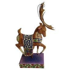 Jim Shore Dash Away Reindeer Figurine #118110 Discontinued Heartwood Creek