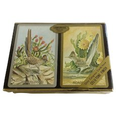 Roadrunner Bird Congress Playing Cards Deck Cel-U-Tone Finish New In Box Never Opened