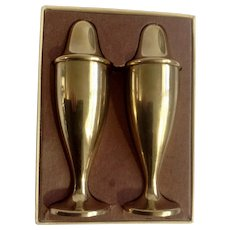 Dirilyte Gold-Tone Salt and Pepper Shakers Metal S&P Tableware