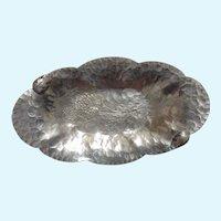 Chrysanthemums Aluminum Serving Platter Trade Continental Mark 572