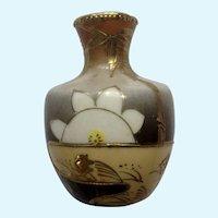Dollhouse Miniature Vase Moriage Porcelain Goldfish & Mt Fuji Japan