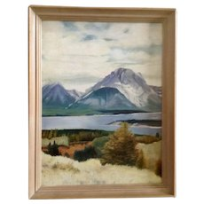 Robert O'Hara, Mountainous Landscape Oil Painting on Canvas Signed By Artist