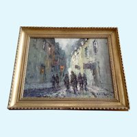 Dane, Impressionist Figural's in European City Scene Oil Painting