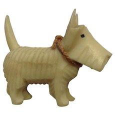Circa 1930's Celluloid Scottie Terrier Puppy Dog Scottish Animal Japan Figurine