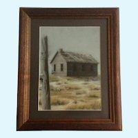 Loree Elf, Abandoned Dust Bowl Home Original Realism Pastel Painting