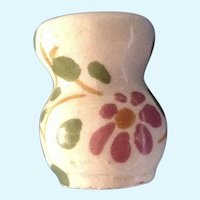 Dollhouse Miniature Floral Art Pottery Vase Italy