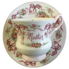 Queen's Rosina Manor Roses Mother Coffee Cup or Teacup and Saucer Plate England