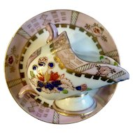 Gorgeous Sugar Cube Holder Bowl English Tea Porcelain Cup & Saucer Set Floral Motif Hand Painted Made in Japan