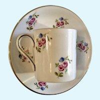 Vintage Royal Grafton Demitasse Coffee Cup or Teacup and Saucer Plate England