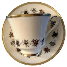 Footed Cup & Saucer Set Mirabeau by MINTON 1971 - 1979 Discontinued