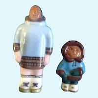 Mid-Century Inuit Eskimo Figurines Alaskan Signed by Canadian Artist Amartuk