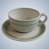 Schonwald Germany Schonhuber Franchi Fabrik Dekor Demitasse Coffee Cup or Teacup and Saucer Porcelain