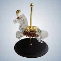 Carousel Horse Crystal Glass Majesty Designer William Dentzel III Franklin Mint Figurine