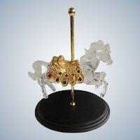 Carousel Horse Crystal Glass Treasure Designer William Dentzel III Franklin Mint Figurine