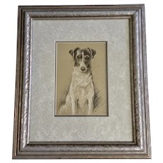 1930's-1940's Lucy Dawson, Smooth Haired Terrier Judy, Dog Framed Print from the Book, Dogs Rough And Smooth