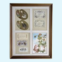 1875-1910 Die-Cut Embossed Ephemera Paper Scrap Book Picture