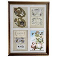 1875-1910 Die-Cut Embossed Ephemera Paper Scrap Book Picture