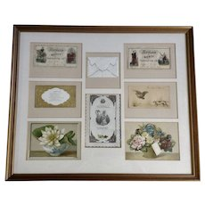 1875-1910 Die-Cut Embossed Merit Rewards Ephemera Paper Scrap Book Picture