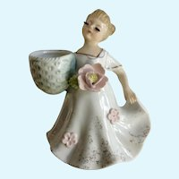 Enesco Big Eyelash Girl Figurine Planter Vase