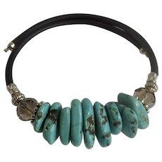 Natural Turquoise Nugget Stone Beaded Bracelet