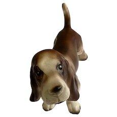 Vintage Champion Basset Hound Dog Arnart Creation Model #8214 Porcelain Figurine