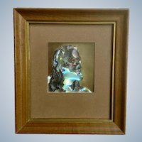 Gertrude Milton Walcher Holographic Abstract Mixed Media Art 1963 Titled Solomon's Head of Christ Jesus
