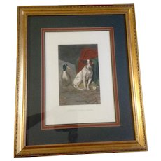 William Herbert Weakes, Guilty Conscience, Jack Russel Terrier Dog Picture Large Lithograph