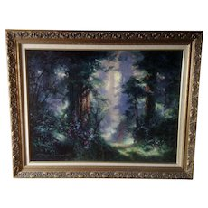 James Coleman Tropical Rain Forest Path Landscape Signed Limited Edition Giclee Print in Gold Frame Listed Artist