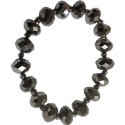 "Mirrored Bead Bracelet Costume Jewelry 6-3/4"" Wrist"