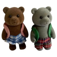 Calico Critters Anthropomorphic Bear Friends Family Maple Town Sylvanian Figurines Epoch Taiwan