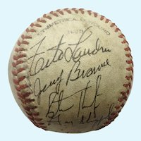 Baseball Hand Signed Jerry Browne, Gary Sheffield Plus Five Others Game Ball