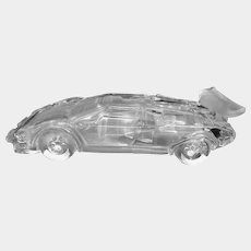 1987 Lamborghini Countach Supercar Crystal Glass Car Hofbauer West Germany Paperweight Figurine