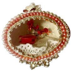 Rare Candy Box & Flowers Decorated Egg Miniature Diorama For Valentine's Day