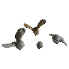 1966 to 1989 Hagen Renaker Papa Tweety Bird and Blue Birdies Mama and Baby Miniature Animal Figurines Retired Color