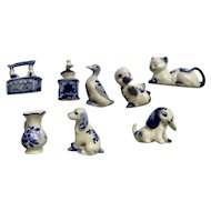 Deft Blue Bone China Miniatures Group Dutch Holland Figurines